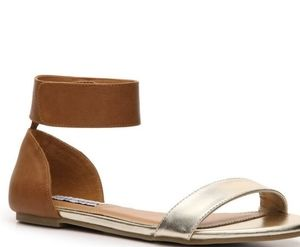Steve Madden Kasty metallic gold brown sandals